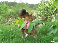Beata playing outdoors
